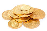 Old gold coins — Stock Photo