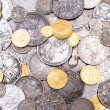 Royalty-Free Stock Photo: Old gold and silver coins background