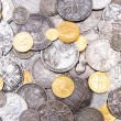 Stock Photo: Old gold and silver coins background