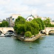 Cite island  and bridge Neuf view. Paris — Stock Photo