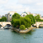 Cite island and bridge Neuf view. Paris — Stock Photo