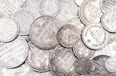 Old silver coins background (part 2) — Stock Photo