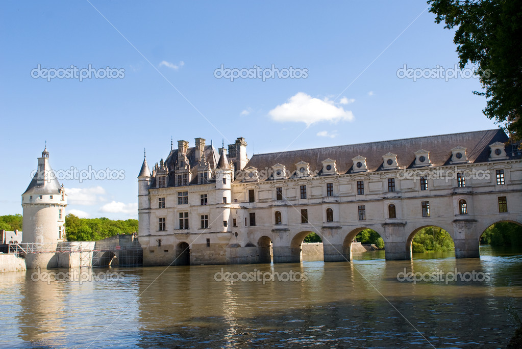 Castle Chenonceau. Loire Valley, France — Stock Photo #2187538