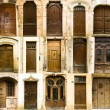 Collection of old french entrance doors — Stock Photo