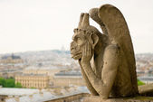 Chimera on Notre Dame Cathedral. Paris. — Stock Photo