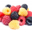 Mixed raspberries — Stockfoto