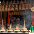 Pagoda with incense sticks - Foto Stock