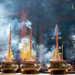 Incense sticks in pagoda - Stock Photo