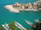 Bay Castellammare del Golfo — Stock Photo