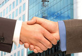 Business-handshake. — Stockfoto