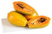 Papaya. Isolated — Stock Photo