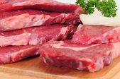 Rohes fleisch. — Stockfoto