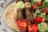 Shish kebab. — Stock Photo