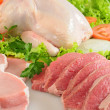Raw meat. Isolated - Stock Photo