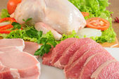 Raw meat. Isolated — Stock Photo