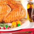 Stock Photo: Roasted turkey.