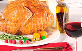 Roasted turkey. — Stockfoto