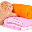 Duvet roll. Isolated. - Stock Photo