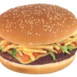 Royalty-Free Stock Photo: Hamburger. Isolated