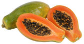 Papaya. Isolated — Stock Photo