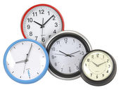 Clocks. Isolated — Stock Photo