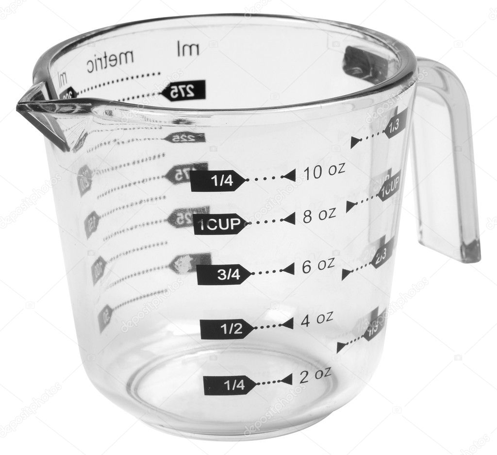 Marked measuring cup.  Stock Photo #2614205