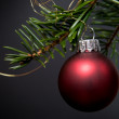 Red christmas bauble — Stock fotografie