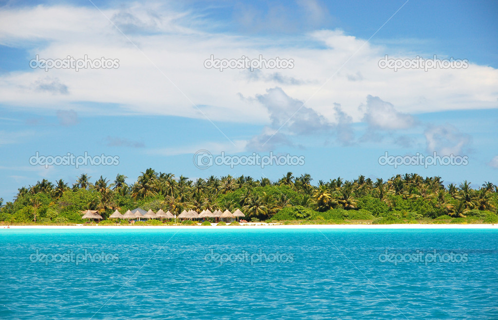 Beautiful tropical island on the maldives in the indian ocean  Stock Photo #2204625
