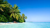 Beautiful tropical beach — 图库照片