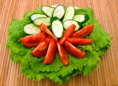 Tomato, cucumber and lettuce — Stockfoto