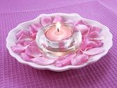 Aromat świecy na relaks — Zdjęcie stockowe