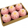 Foto Stock: Aromatic candle in box