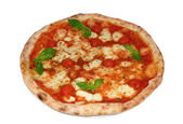 Pizza with mozzarella, cherry and basil — Stock Photo