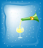 Champagne illustration — Stock Photo