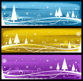 Abstract winter web design — Stock Photo