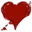 Wax heart — Stockfoto