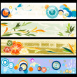 Floral web banners — Stock Photo