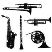 Musical wind instruments — Stock Photo
