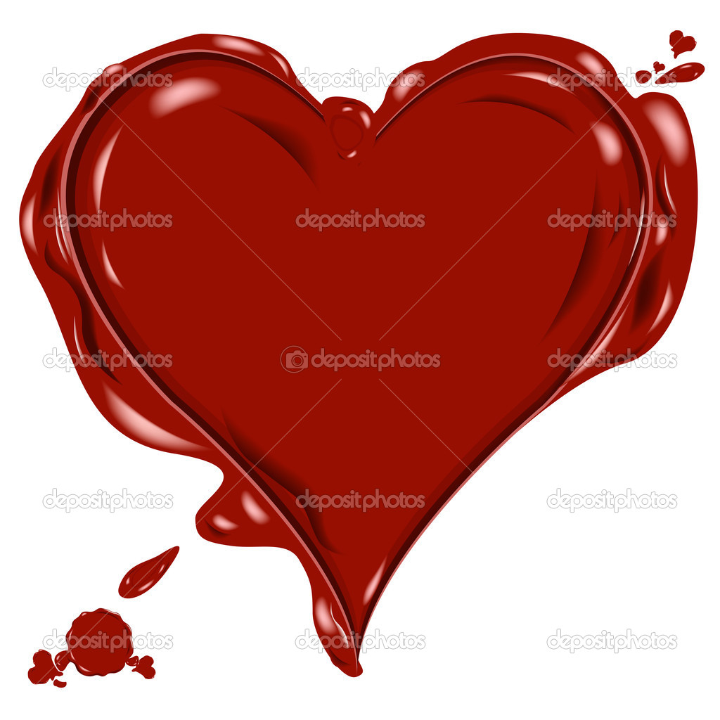 Heart icon as a wax seal — Stock Photo #2534111
