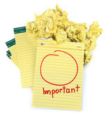 Copy space for important notes — Stock Photo
