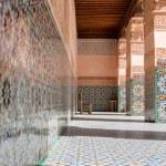 Details of Courtyard of Ali Ben — Stock Photo