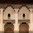 Courtyard of Ali Ben Youssef Madrasa - Stock Photo