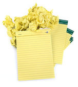 Paper notebooks and crumpled paper — Stock Photo