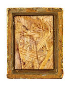 Ruined gilded frame — Stock Photo