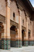 Courtyard of Ali Ben Youssef Madrasa — Stock Photo