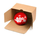 Sale concept - 40 percent — Stock Photo