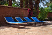 Sunbathing beds — Stock Photo