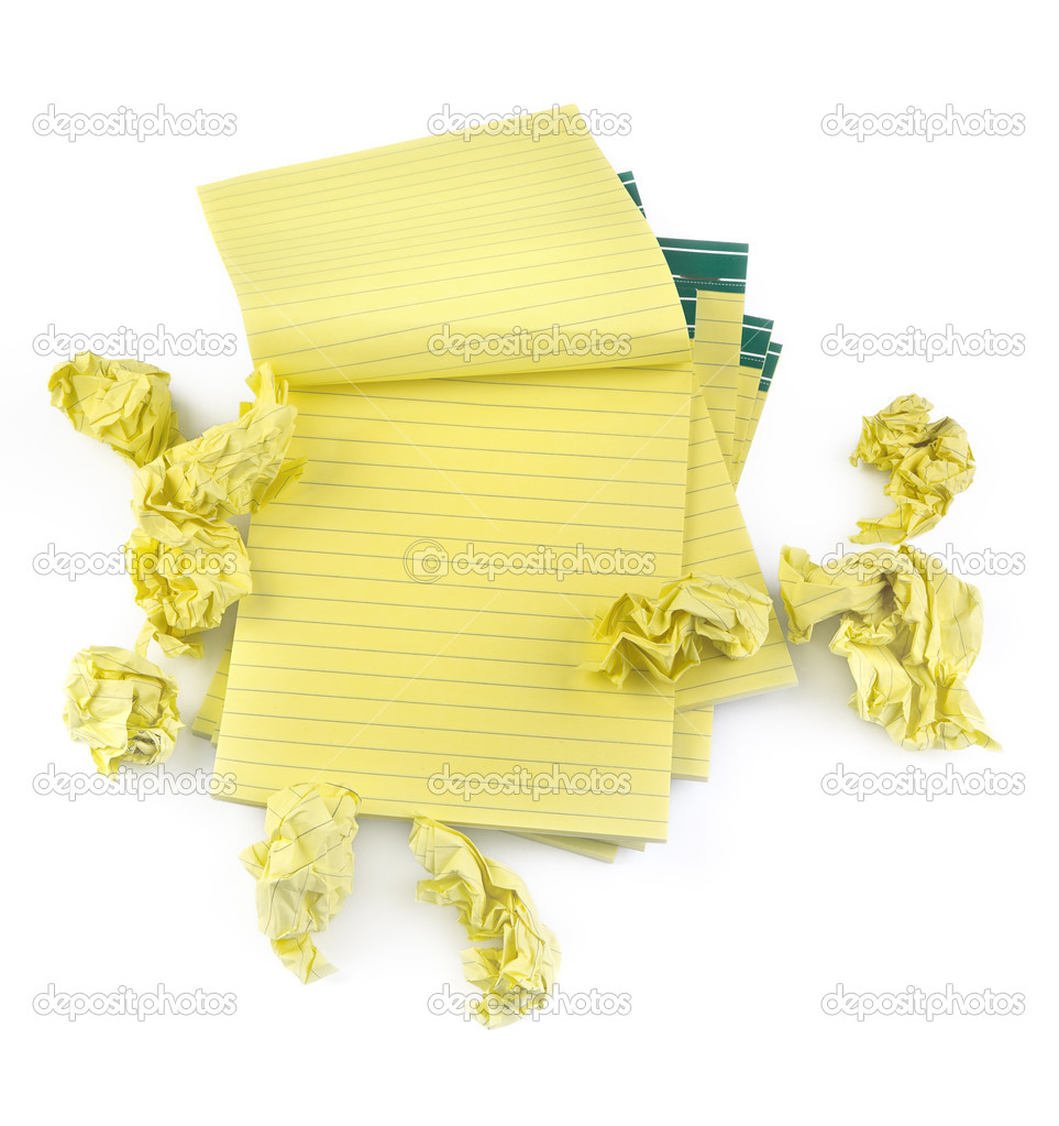 Lined paper notebooks and crumpled paper — Stock Photo © yoka66 #