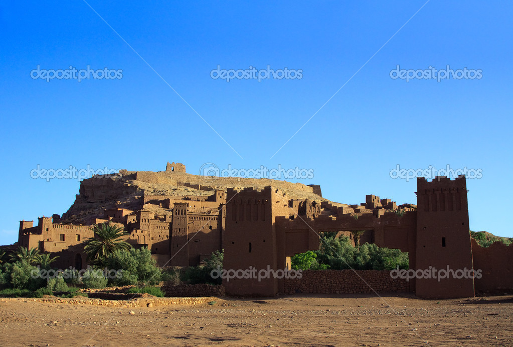 Morning view on traditional Moroccan Casbah  Stock Photo #2172399