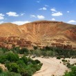 Dried river in Morocco - Stock Photo